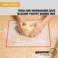 Gourmet Kitchen Silicone Pastry Mat 40x50cm