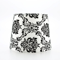 Sherwood Lighting Customisable Polyester Flocking Lampshade - Black And White