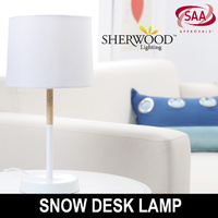 Sherwood Simple & Beautiful Snow Table Desk Lamp White
