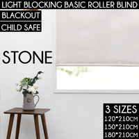 Home Living Basic Roller Blind Stone 180*210Cm