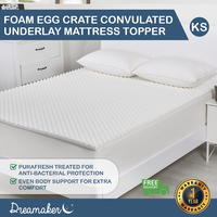 Dreamaker Egg Crate Convoluted Foam Underlay - King Single Bed