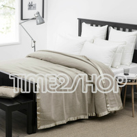 Wooltara Luxury 350Gsm Alpaca Wool Blanket Latte - Double Bed