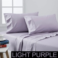 Dreamaker Coolmax Cotton Rich Sheet Set Light Purple - King Bed