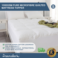 Dreamaker 1000Gsm Down Alternative Mattress Topper Single Bed