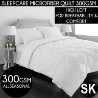 Sleepcare 300GSM All Season Microfibre Quilt - Super King Bed