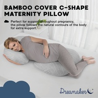 Dreamaker Bamboo Covered C Shape Maternity Pillow