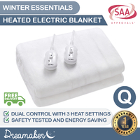 Dreamaker Washable Electric Blanket - Queen Bed