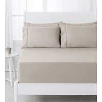 Dreamaker 250Tc Fitted Sheet Set Latte - Double Size
