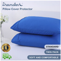 Dreamaker Pillowcases King Body Euro V Shape Standard Pillow Cover Protector Twin Pack