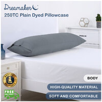 Dreamaker 250TC Plain Dyed Body Pillowcase Vapour
