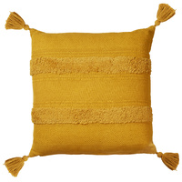 Accessorize Bedroom Collection Indra Tassel Mustard European Cushion