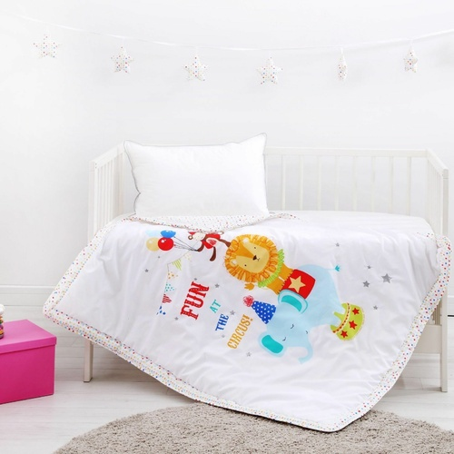 Dreamaker Baby Circus Printed Coverlet - 100 X 120Cm